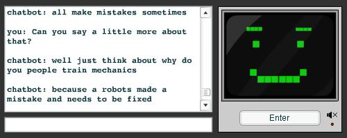 Chatbot with smile face