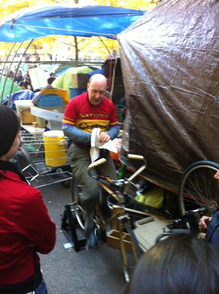 Stationary bike generator
