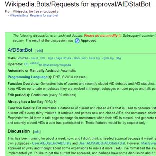 AfDStatBot's request for approval