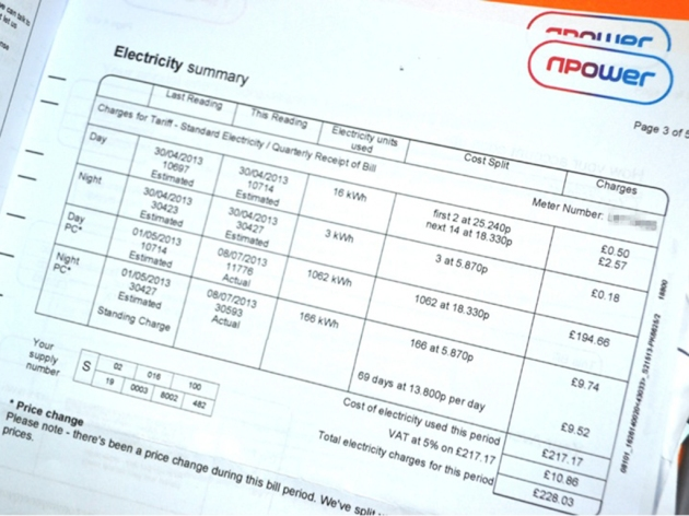 Electricity bill